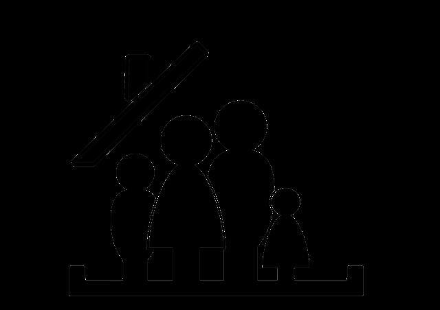 rodina pod střechou