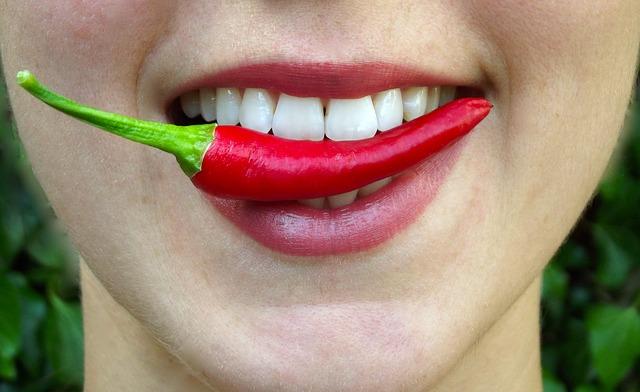 paprička v ústech