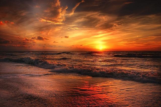 pláž severního moře