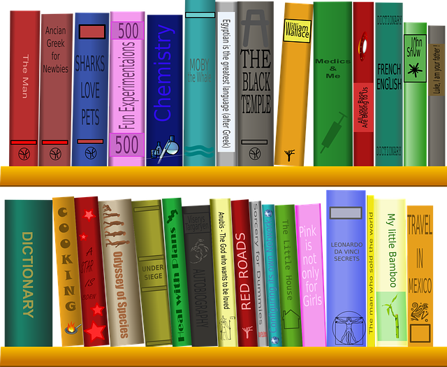 knihy na policích