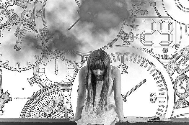 dívka v časové tísni