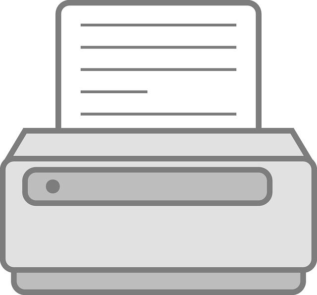 jednoduchá ilustrace tiskárny