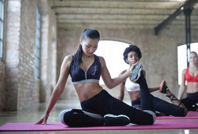žena, cvičení, sport